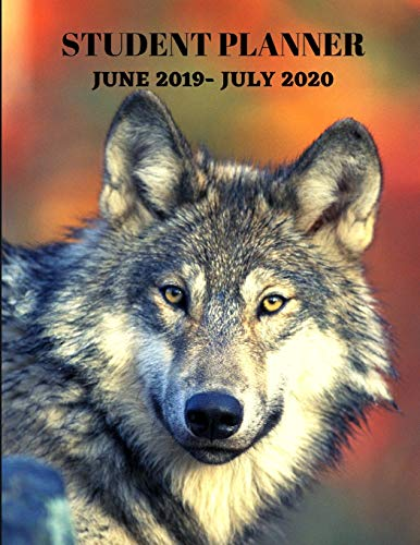 Student 2019-2020 Planner: Wolf Academic Agenda 8.5 x 11 in. June 2019 to July 2020  Daily Weekly Planner with Assignment and To-Do List