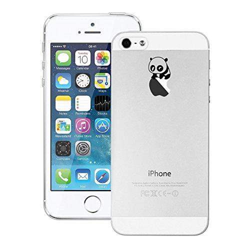 GrandEver iPhone SE 5S 5 Hülle Weiche Silikon Handyhülle Gel Transparent TPU Bumper Durchsichtig Schutzhülle für iPhone SE 5S 5 Rückschale Klar Handytasche Anti-Kratzer Stoßdämpfung Ultra Slim Rücksei Blinzelnder Panda