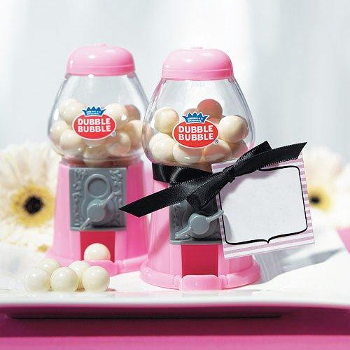 Kaugummi-Spender, pink - süßer Kaugummiautomat in Miniaturform, perfekt für Kindergeburtstage, zur Candybar oder als Weihnachtsgeschenk -