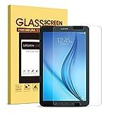 SPARIN Galaxy Tab E 9.6 Displayschutzfolie, ausgeglichenes Glas-Schirm-Schutz für Galaxy Tab E 9,6 Zoll (Model 2015) mit Scratch Resist Blasenfrei 2.5D Premium-Temperierte Arc Rand HD Klar