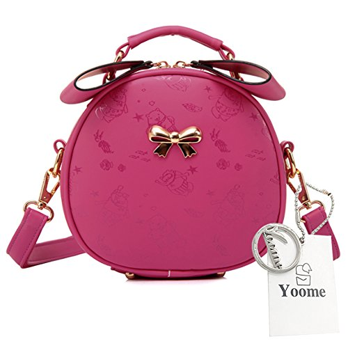 Yoome Cute Printing Vicolo Style Bowknot Top Handle Handbags Small Satchel Handbags For Women - Rosa Grigia