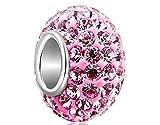 Primi 1pieza cristal charms Beads Fit Pandora Pulsera (rosa)