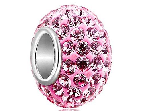 Primi 1Kristall-Charm für Pandora Armband (Pink)