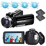 Videokamera Camcorder Full HD 1080P 30FPS Digitale Videokamera HD 24.0MP Serienbild Mini Videokamera mit 3 Zoll drehbarer Bildschirm Webcam-Funktion