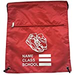 Eurotshirts PE Pump Bag Premium Zip School Gymsac with Design 9 Colours - childrens-sports-bags, childrens-bags