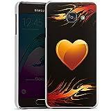 Samsung Galaxy A3 (2016) Housse Étui Protection Coque C½ur Flammes Amour