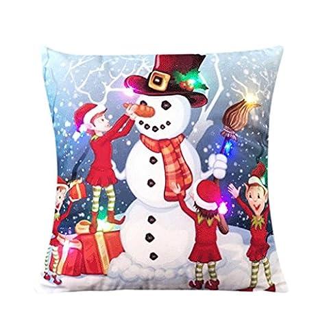 Kissenbezug Vovotrade Heiße beiläufige Sofa Kissen Kasten für Weihnachten Hauptdekoration (C) (Solid Gold Taschenuhr)