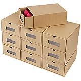 MVPOWER Boîte à Chaussures en Papier Kraft Boîte de Rangement Boîte à Chaussure avec Tiroir Boîte à Chaussure avec Tiroir en
