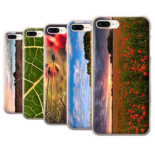 Stuff4 Hülle / Case für Apple iPhone 8 Plus / Grünes Blatt Muster / Britisch Landschaft Kollektion Pack 8pcs