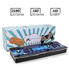 Spmywin 3D Pandora Key 7 Console de Jeux 2350 Jeu rétro 1080P Machine d'arcade rétro CPU avancé Boutons personnalisés Liste Intelligente