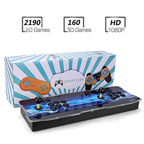 Spmywin 2350 3D Pandora Box Console Giochi 1080P HD Arcade Machine Videogiochi Portatili Console, Supporto Espandere Giochi 2D & 3D, CPU Avanzata, Mini Arcade Supporto 2 giocatori