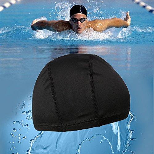 dairyshop Unisex-Erwachsene Schwimmen Badekappe Elastic Swimwear Zubehör Baden Mützen schwarz (Für Mädchen Blumen-schwimmen-kappe)