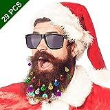 GIKPAL Ornamenti per Barba Baubles Palline di Natale 29 Pezzi con Clip Includi Bells e Occhiali da Sole, Decorazioni Natalizie per Babbo Natale, Capelli, Alberi di Natale, Gatti e Cani
