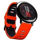 Smartwatch AMAZFIT GPS Reloj inteligente de ajuste increíble para deportes con Bluetooth, Wifi, Dual 512MB/4GB, cuenta con monitor frecuencia cardíaca para iOS Xiaomi huami (versión en inglés) en color rojo/negro por Gshopper