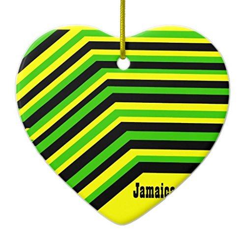 Weihnachtsbaum Dekorationen Jamaica Jamaika Keramik Ornament Herz Weihnachten Ornament Handwerk XMAS Geschenk - Jamaika-geschenk-set