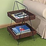 2Tier cesta de junco marino escalera soporte