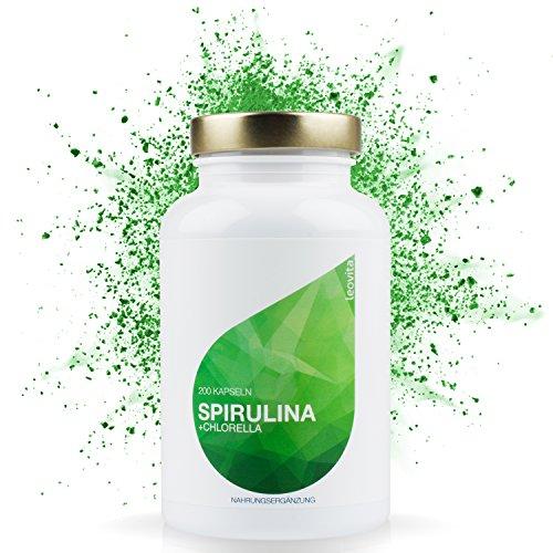 LEOVita Spirulina Chlorella • zur Stärkung des Immunsystems • wirkt positiv auf den Blutdruck und Cholesterinspiegel • pur und hochdosiert • 200 Kapseln • 100% Vegan • hergestellt in Deutschland • 100% Zufriedenheitsgarantie