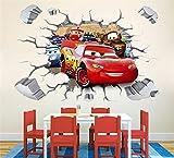 3D XXL Saetta McQueen Automobili Plains Adesivi murali Asilo nido bambini Camera da letto Adesivo da parete rimovibile Murale decalcomania arredamento Decorazione del bambino