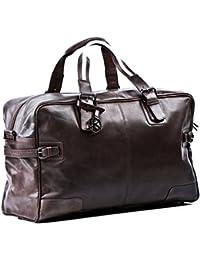 944721e5bdb7 BACCINI large travel bag - weekender ROBERTO - sports bag brown-crumply  leather
