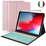 SENGBIRCH Custodia Tastiera per iPad PRO 11, Slim Fit Cover Protettiva per con Italian Tastiera Bluetooth Wireless Staccabile per iPad PRO da 11 Pollici (Rosa Oro)