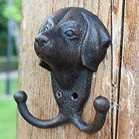 YETTA home European Retro cast Iron Dog Head Wall Pendant Home Decorations