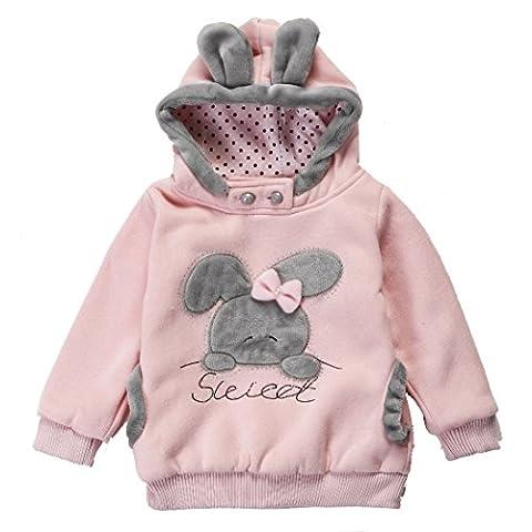 CRAVOG Wintermantel Mädchen Babys Jacken Kapuzenjacke Mädchenjacke Kapuzen Kaninchenohren Baby Mantel mit