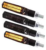 4 LED Blinker • Vorn & Hinten • mit E-Zeichen • für Motorrad Roller Scooter Quad Moped Mofa • X-LEDIND-62 •