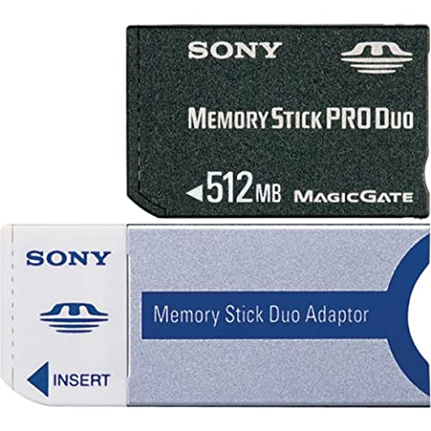 Sony Memory Stick PRO DUO 512MB small 0.5GB MS memory card - memory cards (MS, -10.56 - 85 °C, 20 x 31 x 1.6 mm, 2.7 - 3.6, 10-pin Serial Memory Stick Interface and 4-pin Parallel)