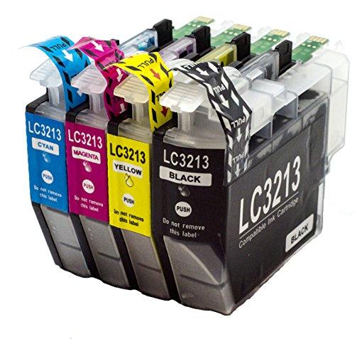 Neue Kompatible Tinte (NTT 4 XXL kompatible Druckerpatronen als Ersatz für LC3213 LC-3213 LC 3213 DCP-J772 DW DCP-J774 DW MFC-J890 DW MFC-J895 DW MFC-J497DW DCP-J572 DW ( 1x Schwarz, 1x Cyan, 1x Magenta, 1x Yellow))