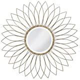 Howard Elliott 1376-S Charlese Mirror, Antique Brushed Silver
