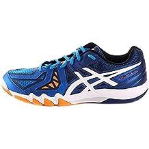 ASICS Gel-blade 5, calzado de Squash para hombre, color azul/white (electric Blue/navy 3901)-39