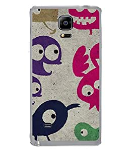 PrintVisa Birds Doodle High Gloss Designer Back Case Cover for Samsung Galaxy Note Edge :: Samsung Galaxy Note Edge N915Fy N915A N915T N915K/N915L/N915S N915G N915D