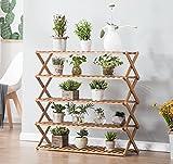 estantes para plantas Soporte plegable de madera de la maceta de 5 Tier Jardinera de jardinero Escalera Display Jardinero Estantes de almacenamiento Rack Herb Holder 50 * 28 * 78cm ( Tamaño : 50*28*78cm )