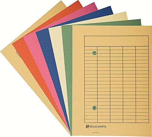 Exacompta 353500B Umlaufmappe aus Recycling Karton mit Organisationsdruck Forever für Format DIN A4, 250 g, 100er Pack, 32 x 23 cm, Farben sortiert