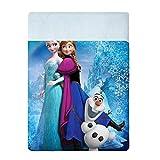 Disney Frozen PA351001062 Copriletto Stampato, 100% Cotone, Azzurro, 80 x 190 cm