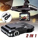 Voberry Dash Cam, 2 in 1 MFP 5MP Auto DVR Recorder + Radar Geschwindigkeit Detektor Verkehr Alarm Englisch