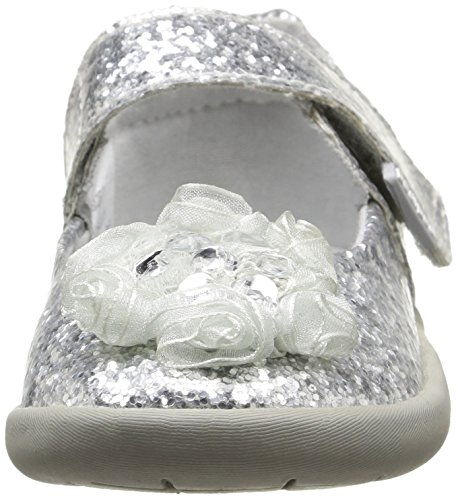 Pediped Delaney, Premiers pas Sandales Bébé Fille Argent (Silver)