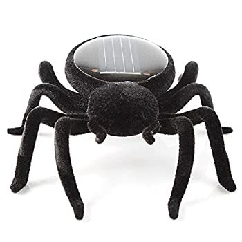 Solar Power Energy Toy,amamary Smallest Solar Power Mini Toy Car Racer + Spider Robot + Grasshopper Robot + Cockroach Robot Educational Solar Powered Toy Gadget Gift (Spider) 0