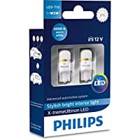 Philips 127994000KX2 X-Tremeultinon LED-Innenbeleuchtung W5W T10 4000K 12V, 2 Stück, Warm White, Set of 2