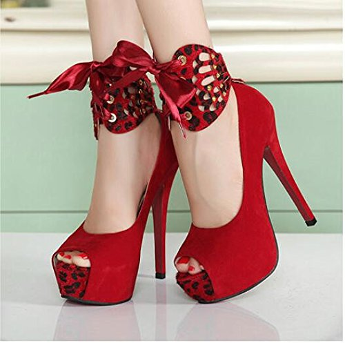 Sandalias Y Zapatos Con Tacón Alto Lgk & Fa Super Heel Para Mujer 35 Rojo 39 Rojo