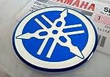 100% GENUINE 40mm Durchmesser YAMAHA STIMMGABEL Aufkleber Sticker Emblem Logo BLAU Erhöht Gewölbt Gel Harz Selbstklebend Motorrad / Jet Ski / ATV / Schneemobil