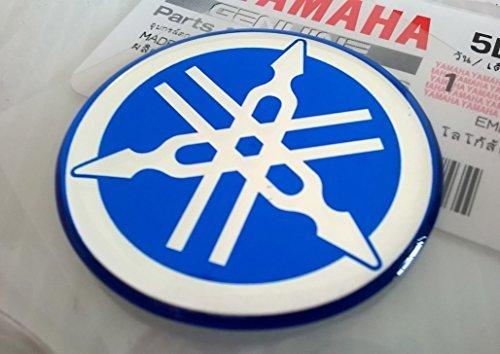 100% GENUINE 40mm Diámetro YAMAHA PUESTA A PUNTO HORQUILLA Pegatina Emblema Adhesivo...