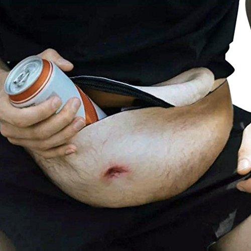 WINWINTOM Unisex Lustiger GroßEr Vati Bob Druck Bier Bauch Taschen Neuheit Reise Taillen Satz (F) (Tasche Neuheit)