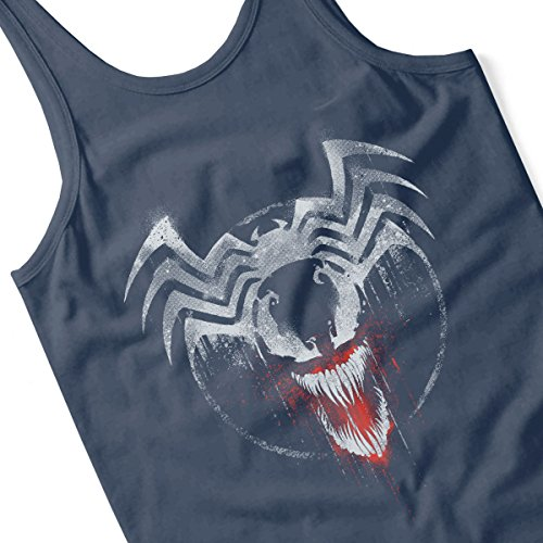 Marvel Venom Graffiti Women's Vest Navy blue