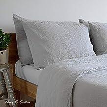 Linen & Cotton Funda de Almohada Alicia, 100% Lino Lavado a La Piedra -