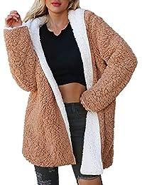Logobeing Chaqueta Suéter Abrigo Jersey Mujer Invierno Cardigan Mujer Chaqueta Punto Abrigo de Mujer de Manga Larga Tops Chaqueta dicroica de Abrigo de Invierno para Mujer