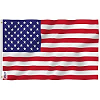 Anley RipProof Series 3x5 Foot (90 X 150cm) American US Flag - Rip Proof Technology for Longest Lasting - 300 Denier Tough Textile - USA Flags with Brass Grommets 3 X 5 Ft