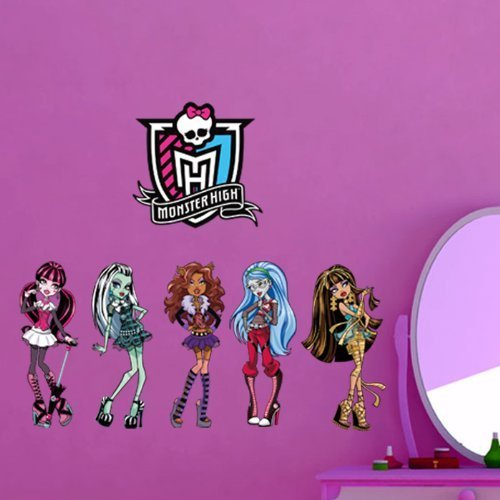 lodicae-monster-high-symbol-five-fashion-girls-wall-mural-girls-room-diy-wall-decal-dcor