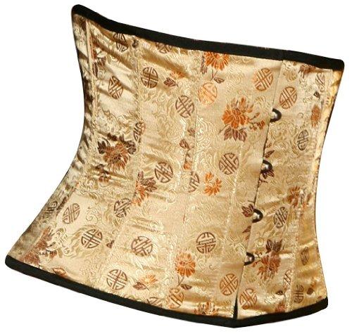 #Awacs Seide Gold Damen Taillenkorsett#