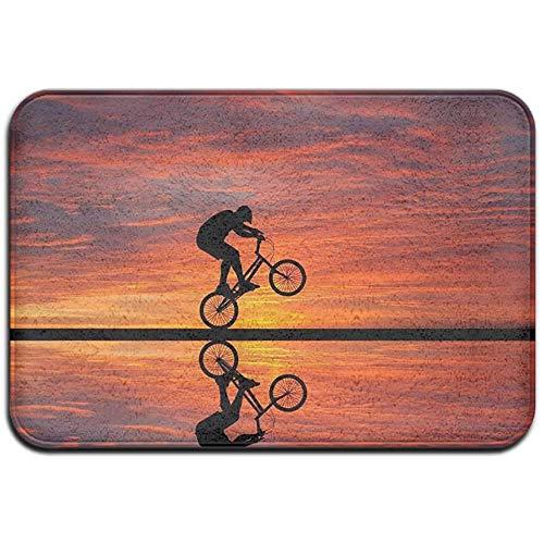 dilidy Alfombra 60 * 40 * 0.8 cm (23.5x15.7 Pulgadas) Alfombrilla Decorativa Antideslizante para el hogar Alfombra de acrobacia para Bicicleta Alfombra para Sala de Estar al Aire Libre/Interior